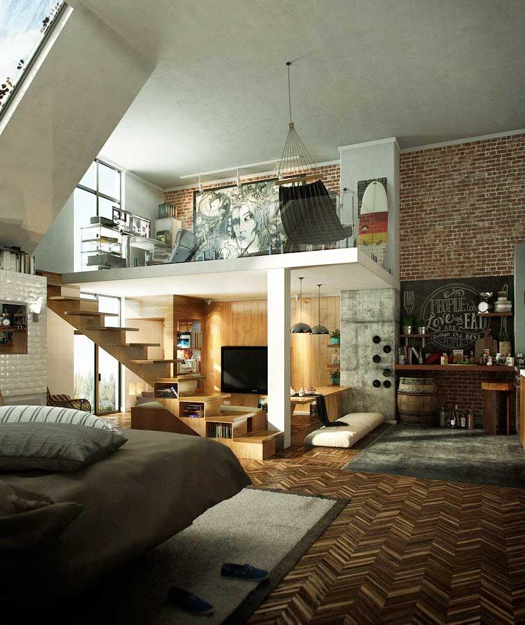 Loft Design Interior Mezanin Seperti Ini Bisa Diterapkan Pada Interior Rumah Anda