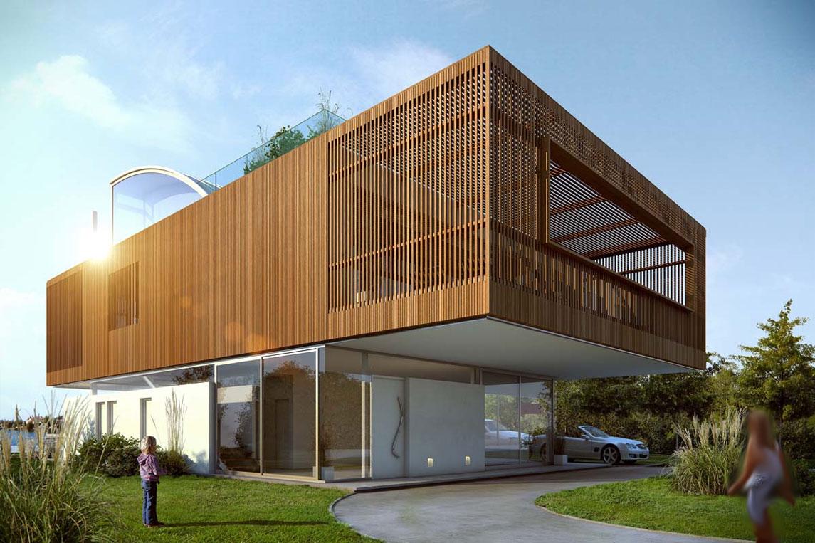 Rumah Modern Persegi Bisa Dibangun Disini Gan